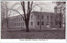 FAIRFIELD, Illinois  IL    CAMPE GARMENT FACTORY  c1920s  *Trimmed  Postcard