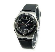 -Casio AQ164W-1A Dual Time Watch Brand New & 100% Authentic