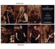 schwarz/weiß Falt- Autogrammkarte Nachtgeschrei -Nocturnal Culture Night- 2009
