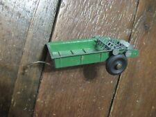 VTG TRU SCALE MANURE SPREADER DIECAST METAL RUBBER TIRES USA TOY GREEN OLD FARM