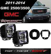 Rigid Radiance Pod White & Fog Light Kit For 2011-2014 GMC2500/3500