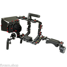 NEW! Filmcity Power Shoulder Rig Mattebox HS-2 follow focus Camera Cage for DSLR