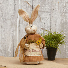 """Primitive Country Rustic """" SPRING BLESSINGS """" Decorative Easter Bunny"""