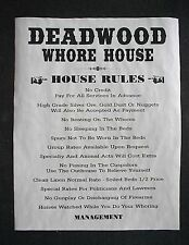 """(266L) OLD WEST BROTHEL RULES DEADWOOD WHORE HOUSE PUB BAR DECOR POSTER 11""""x14"""""""