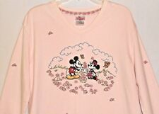 Disney Store Mickey Minnie Mouse Pink Womens Sweater Long Sleeve Adult Small