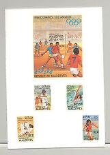 Maldives #1015-1019 Olympics 4v & 1v S/S Imperf Proofs in Folder