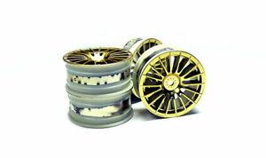 Tamiya RC Model Medium-Narrow 18-Spoke Wheels Gold (+/-0) (4pcs) 84153