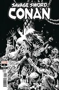 Savage Sword of Conan 1 Variant 1:50 Ron Garney  Black White Cover Marvel Howard