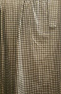 Laura Ashley blue gingham checked curtains  retro country cottage 63ins drop