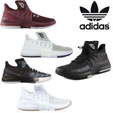 Adidas Nova Masculina D Lillard Dame 3 tênis de basquete com Cadarço Tênis Hi-top