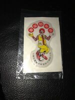 Vtg Puffy McDonald's Sticker From China Sealed Ronald McDonald Chinese Figure