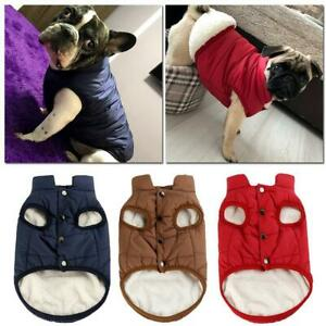 Winter Pet Dog Clothes Warm Buttons Sweater Coat Puppy Fleece Vest Jacket Hot