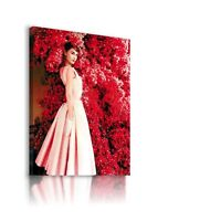 AUDREY HEPBURN ACTRESS MODEL DANCER  FLOWERS Canvas Wall Art Picture AH47 MATAGA