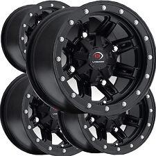 "4) 12"" RIMS WHEELS for 2014 Polaris RZR 800 EPS IRS Vision Type 550 ATV"