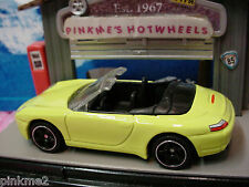 2013 Matchbox PORSCHE 911 CARRERA CABRIOLET∞Day-Glo Yellow∞New LOOSE∞60th MBX