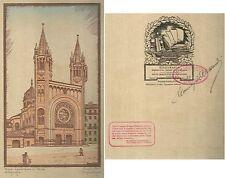 1929 TORINO SACRO CUORE DI MARIA ACQUALAGNA Xilografia M. Alessandri numerata