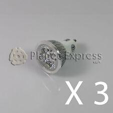 3 x Bombilla 4W LED GU10 Blanco Calido 220V 350 lumen Bajo Consumo! equiv.40W
