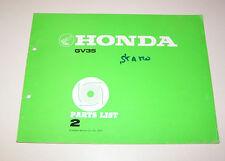 Parts List Honda lawnmower engine GV 35 - Edition 1978!