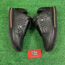 Rare FILA Spell Out Italian Flag Color Way Black Green Red Sneakers Mens 9.5 US