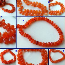 Natural Gemstone Beads,1 Strand Carnelian Faceted Briolettes-Bead Box Collection