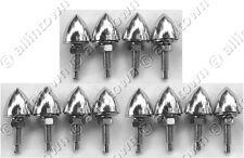 12 Chrome Bullet License Plate Frame Bolts Motorcycle Bullets Bolt Fastener Nuts
