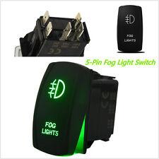 5 Pins On-Off Car SUV DRL Daytime Fog Light Bar Laser Rocker Switch Green LED