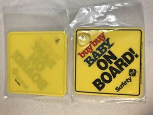 Safety 1st Buy Buy Baby On Board Sign (X2)