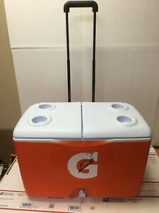 Gatorade 60 Quart Cooler Heavy Duty Rubbermaid Rolling Wheels