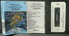 EUROPE The Final Countdown RARE ~ SOUTH AFRICA Cassette Tape OFFICIAL EPIC Paper