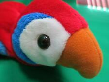 BRIGHT RED SCARLET MCCALL BLUE YELLOW CALTOY HAND PUPPETS STUFFED ANIMAL BIRD