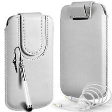MAGNETIC PU LEATHER PULL FLIP TAB CASE COVER & 3.5MM JACK CABLE FOR APPLE PHONES