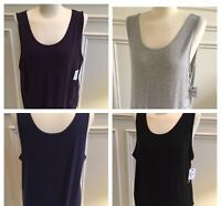 Sonoma Women's Layering Tank Black, Purple, Blue Plus Size 1X, 2X - NEW MSR $16