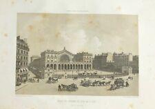 LITHOGRAPHIE PARIS GARE DU CHEMIN DE FER DE L'EST  IN FOLIO 1861