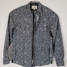 WRK Matteo Gattardi Mens S jacket shirt snap Street black white Pixel Camo Work