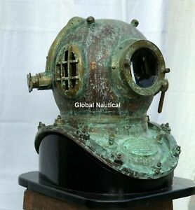 Rare Antique Diving Helmet Mark V Deep Sea Scuba Boston Style Divers Helmet