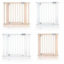 More details for safetots chunky wooden pressure fit stair gate 74 -97cm safety baby barrier