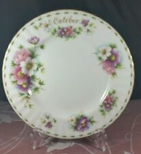 """ROYAL ALBERT FLOWER of the MONTH OCTOBER """"COSMOS"""" PASTELS 8"""" PLATE 1970 EXC COND"""
