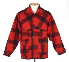 482547b068eba Vtg 1950s Woolrich Buffalo Plaid Field Bird Hunting Jacket Blanket Coat Mens  40