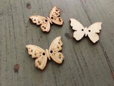Butterfly Wooden Buttons 8pcs x 25mm Aussie Seller