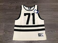Starter Black Label Vintage Summer Mesh Tank Top #71 White Black Large Brand New