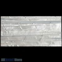 """NEW - 2mm Thick 8"""" x 4"""" PURE CELLULOID SHEET for Guitar Inlays - WHITE PEARLOID"""