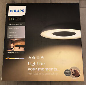 Philips Hue White Ambiance Dimmable Still Black Ceiling Light
