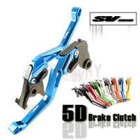 CNC 5D Short Adjustable Motorcycle Brake Clutch Levers for SUZUKI SV650 16-18