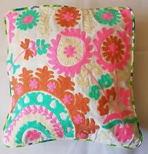 White with Multicolour cotton cushion covers 16 x 16 inches