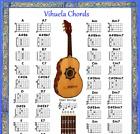 VIHUELA CHORD CHART  NOTE LOCATOR - SMALL CHART