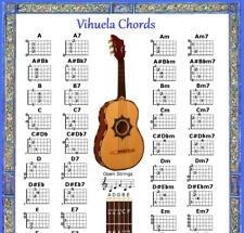 VIHUELA CHORD CHART & NOTE LOCATOR - SMALL CHART