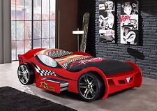 Turbo Race Car Bed, Childrens Bed, Kids Beds, Boys Car Bed, Sports Car Bed - Red