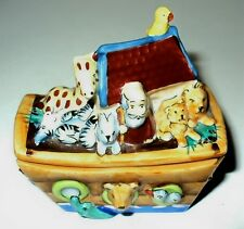 LIMOGES BOX - NOAH'S ARK & ANIMALS -DOUBLE HINGED- TWO COMPARTMENTS - LE 130/750