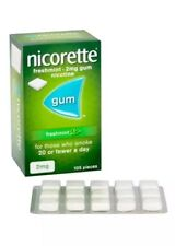 Special Offer!  3x Nicorette Gum Fresh Mint  2mg Gum 105 Pieces
