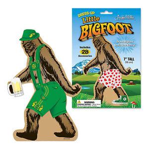 Archie McPhee Little Bigfoot Dressup Reusable Sticker Set NEW